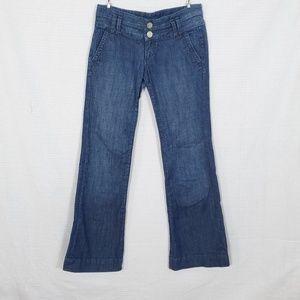 See Thru Soul Wide Hem Bootcut Jeans  27x31